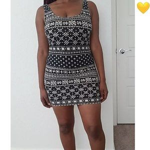 Forever 21 Patterned Bodycon Dress Sz Small